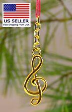 Music Keychain, Gold Treble, Nice Gift