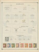 Guadeloupe: 8 POSTAGE DUE STAMPS FROM 1928. MINT, OG, HINGED-MOUNTED