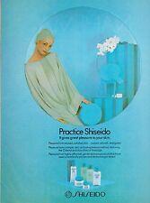 1981 Shiseido Japanese Skin Care Sexy Blue Vintage Print Ad Advertisement 1980s