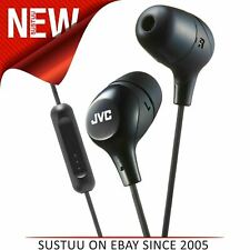 JVC New HAFX38MB Marshmallow In-Ear Headphone|Remote & Mic|iPhone/Android|Black
