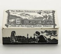 CERAMIC TOBACCO ADVERTISING BOX BALKAN SOBRANIE c.1885