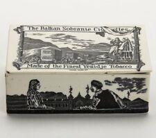 CERAMIC TOBACCO ADVERTISING BOX BALKAN SOBRANIE c.1885