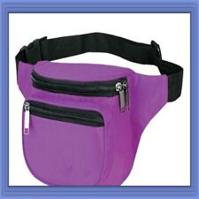 10 Pk Fantasybag Purple 3-Zipper Fanny Pack