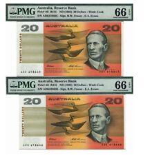 "1993(ND)Australia, Reserve Bank $20 P-46i ""Fraser & Evans"" Last Prefix Pair"
