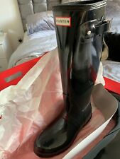 Hunter Original Women's Tall Rain Boots - Welly Boots - Black RRP £105
