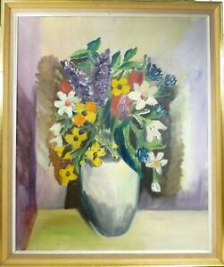 ARTHUR KOBBERUP! STILL LIFE COMPOSITION WITH FLOWERS IN VASE