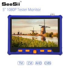 "5"" Hd Tester Monitor Tvi Cvi Ahd Vga Cvbs 4in1 Cctv Security Camera Ptz 2Mp 12V"
