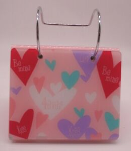 New Valentines Day Heart Hanging Flip Photo Album Stand holds 80 Photos Be Mine