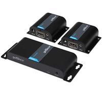 gofanco 2-Port HDMI Extender Splitter with IR – 130ft (40m) (HDMIExtSplit)