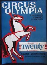 1975ca CIRCUS OLYMPIA poster affiche original Dominik Gasser Cirque Zirkus Circo