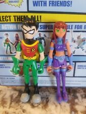 "Teen Titans Poseable Figure 3.5"" Robin & Starfire Bandai Very Rare Nice"