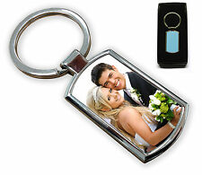 PERSONALISED KEYRING CUSTOM PHOTO PRINTED WITH GIFT BOX