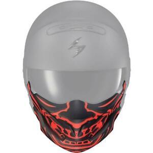Scorpion Covert Face Mask for Covert Helmet Black Bandana Samurai Skull