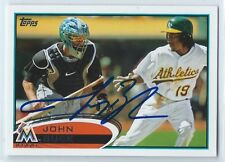 John Buck signed 2012 Topps, Miami Marlins baseball card autograph #27