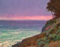 California Santa Barbara Pacific Ocean Landscape Art Oil Painting Impressionism
