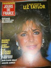 Jours de France N°1722 2 janvier 1988 Liz Taylor Maurice Rheims Mode robe soirée