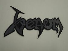 VENOM EMBROIDERED LOGO BLACK METAL BACK PATCH