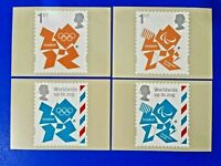 PHQ Stamp Postcards Set of 4 No.D32 London Olympic & Paralympic Games 2012 MU7