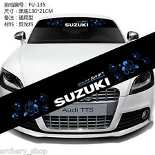 Front Windshield Banner Decal Vinyl Car Stickers for SUZUKI Auto accessories