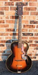 Vintage 1940's Epiphone Blackstone Pre-Gibson Archtop Sunburst Acoustic Guitar