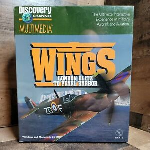 Wings London Blitz To Pearl Harbor Discovery Channel 1995 Sealed In Box CD Rom