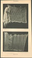 PUY-DE-DOME TRAMAIL TYPES DE FILETS DE PECHE IMAGE 1900