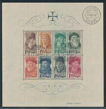 """PORTUGAL 1945, block 7 used, """"Sailors"""", very fine!! Mi. 200,--!!"""