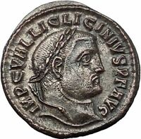 Licinius I Constantine The Great enemy 312AD Ancient Roman Coin Jupiter i54457