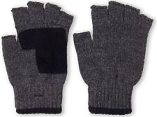 NWT Men's LEVI'S Knit Fingerless Gloves Charcoal Size One Size