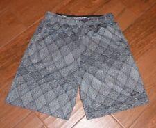 Nike Dri-Fit Gray/Black Print Basketball Shorts Men's Large