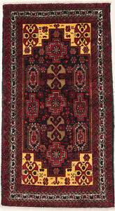 Vintage Style Hand Knotted 4X7 Tribal Design Area Rug Oriental Wool Home Carpet