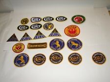 20 vintage unused patch lot Colt Firearms Delta Ruger Browning Thompson Center