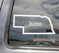 Nebraska State Home Outline NE Cornhusker Car Vinyl Die-Cut Decal Sticker 07012