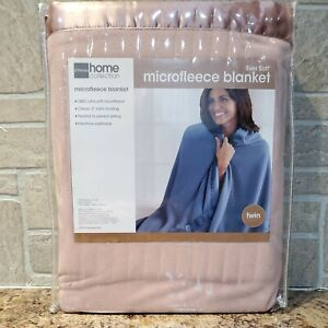 New JC Penny Home Collection Ever Soft Microfleece Blanket Twin 66x90 Vtg Rose