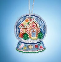 Mill Hill - Gingerbread House Snow Globe - Cross Stitch Ornament - MH16-1932