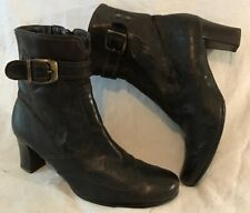 Gabor Comfort Dark Brown Ankle Leather Lovely Boots Size 6 (74vv)