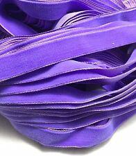 Vintage French Rayon VELVET Ribbon Taffeta Back - PURPLE by the yard 5/8 inch