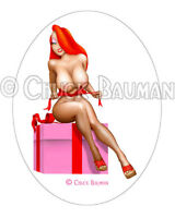 Jessica Rabbit Christmas Gift sexy pin-up busty cartoon babe sticker decal R