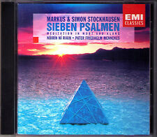 Markus & Simon STOCKHAUSEN Sieben Psalmen Meditation in Wort und Klang CD Riain