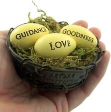 Mother's Day Guidance, Goodness, and Love Eggs In Nest Knick Knack, 3 In N.G.