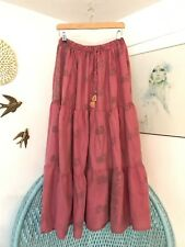 Gypsy Midi  Boho Skirt Pink Vintage Indian 8 10 12 14 16 18 Cotton Festival 20