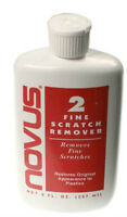 Novus Plastic Polish 2 Fine Scratch Remover 8fl oz 237ml bottle& 1 premium cloth