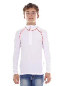 CMP Sweatshirt Function Top White Collar Stretch Softech Lightweight