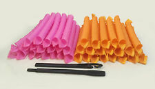 40pcs Magic Long Hair Curlers Curl Spiral Ringlets Leverage Curlers 48cm / 19""