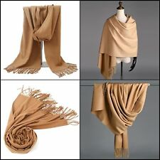 Cashmere Scarf for Men/Women Camel Winter Stole Shawl Valentine B-day GREAT Gift