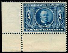 Momen: Us Stamps #326 Corner Margin Single Mint Og Nh Vf
