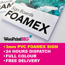 More details for foamex sign foam board 3mm printed full colour rigid plastic board