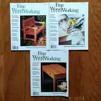 Fine Woodworking Magazine Lot 1998 Half Year 3 Issues Old Furniture Design Plans
