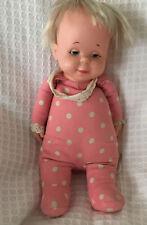 Vintage 1964 Mattel Pink Polka Dot DROWSY Doll Pull String Works But No Sound