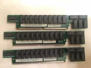 Lot of 3, spectrum engineering dt131,72 pin simm,60ns,MCM5L4100AN70,RAM MEMORY !